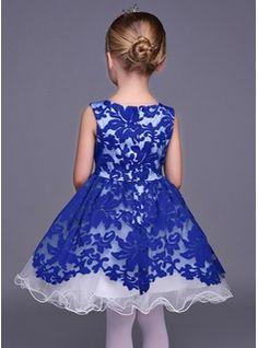A-Linie/Princess-Linie U-Ausschnitt Kurz/Mini Strass Lace Ärmellos Blumenmädchenkleid Blumenmädchenkleid