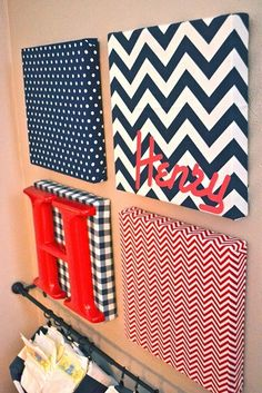 Fabric and canvas for DIY art. Perfect for a nursery, playroom, or bedroom.