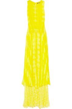 Robert Cavalli silk-chiffon gown