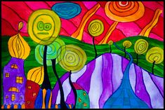 hundertwasser paintings - Google Search
