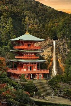 Kumano Nachi Taisha... a Shinto shrine in the Kii Mountain Range of Japan.
