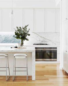 Classic white panelled kitchen