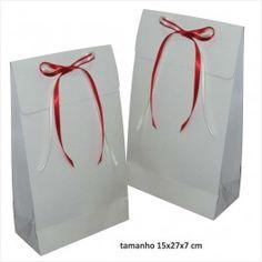 Sacola Envelope branca 15x27x cm - pacote com 10 unidades