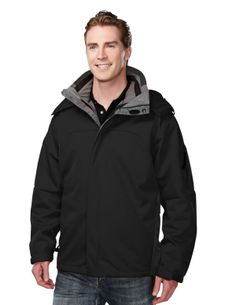 Poly Bonded Soft Shell 3-In-1 Jacket . Tri mountain 6850 #Men #Trimountain #Jacket #PolyBonded
