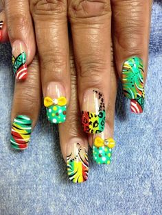 Rasta nails <3