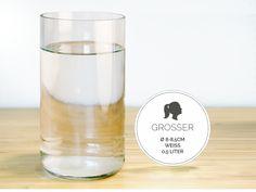 GROSSER / Ø 8-8,5CM / WEISS (Glas / Vase / Becher) von GLÄSERNE TRANSPARENZ auf DaWanda.com