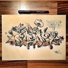 Fasim (156) by Kid Crow - Exchange Sketch Project 2016 #kidcrow #id #wcdib #letterheads #fasim #156 #tds exchange #sketch #blackbook #wildstyle #copic #molotow #graffiti by kidcrow_id