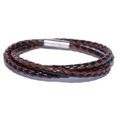 mens leather braded bracelets - Google Search