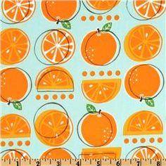Metro Market Oranges in aqua by Monaluna for Robert Kaufman Fabrics designer cotton fabric for the kitchen Textile Patterns, Textile Design, Fabric Design, Design Art, Textiles, Surface Pattern Design, Pattern Art, Orange Pattern, Fruit Pattern