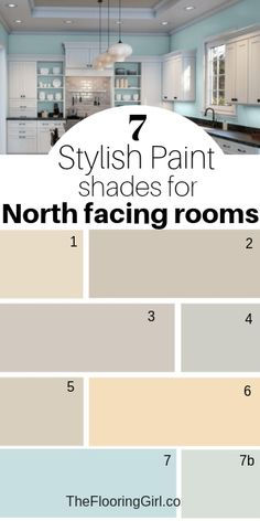 7 Stylish Paint Colors for North Facing Rooms 7 Stylish paint shades for north facing rooms. These 7 colors work well in rooms that face north or have low light. These paint colors warm up the room and reflect more light. Light Paint Colors, Neutral Paint Colors, Best Paint Colors, Bedroom Paint Colors, Paint Colors For Home, Living Room Colors, House Colors, Interior Paint Colors For Living Room, Gray Paint