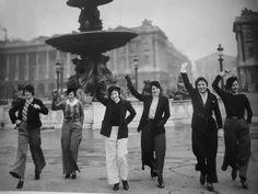 ~ First Parisian women to wear trousers - Place de la Concorde 1933 ~
