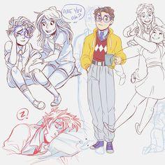 Still like the lil Ghibli Prof. #draws #ocs