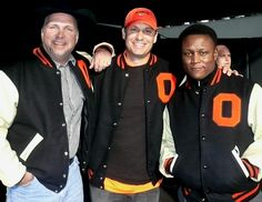 Garth Brooks, Robin Ventura, and Barry Sanders... inducted into the OSU Hall of Fame. I saw them at the Homecoming game!