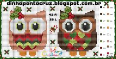 Christmas owls - Pattern by Dinha Ponto Cruz