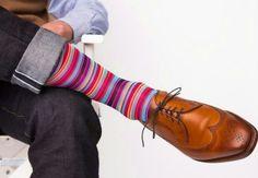 Summer Rose Multi-Stripe Sock