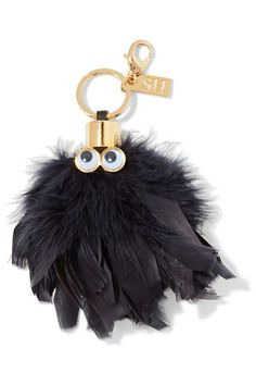 1e5d80d4a78a Sophie Hulme - Sam leather-trimmed feather keychain. Tote PurseTote ...