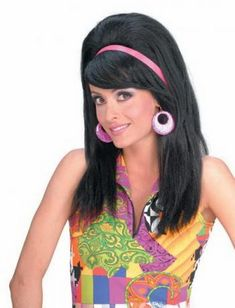 Coiffure disco femme