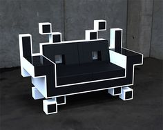 Space Invaders Love Seat!