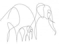 El poder de la línea: dibujos de animales hechos con un solo trazo