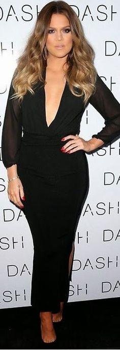 Khloe Kardashian: Shirt – Kardashian Kollection  Skirt – Daimon  Shoes – Christian Louboutin