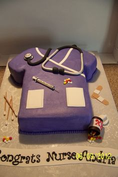 In two years I get to make this for my daughter, Adele. Just change it to Physician Assistant cake. LOL !!