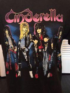 Vintage Cinderella 86 Night Songs Tour Shirt Sz M/L Rock Heavy Metal Glam Blues  | eBay