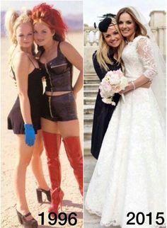 Geri Halliwell Kisses Husband Horner After Church Wedding