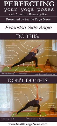 DownDog Yoga Poses for Fun & Fitness: Perfecting Extended Side Angle Yoga Po Ashtanga Yoga, Vinyasa Yoga, Bikram Yoga Poses, Reiki, Yoga Flow, Yoga Meditation, Yoga Inspiration, Yoga Fitness, Fitness Workouts
