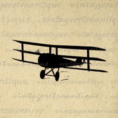 Digital Image Antique Airplane Silhouette Download Plane Illustration Graphic Printable Vintage Clip Art. High quality printable digital graphic for iron on transfers, making prints, tea towels, papercrafts, and many other uses. Antique artwork. This graphic is high quality, large at 8½ x 11 inches. Transparent background version included with all images.