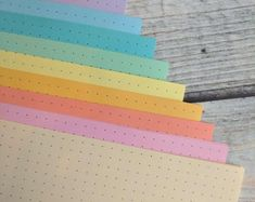 Colorful Paper Inserts for Notebooks & by YellowPaperHouse on Etsy Rainbow Pages, Mini Happy Planner, Toned Paper, Travelers Notebook, Notebooks, Planners, Grid, Etsy Seller, Handmade Items
