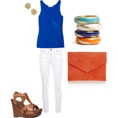 summer blues, created by jessstaldine on Polyvore