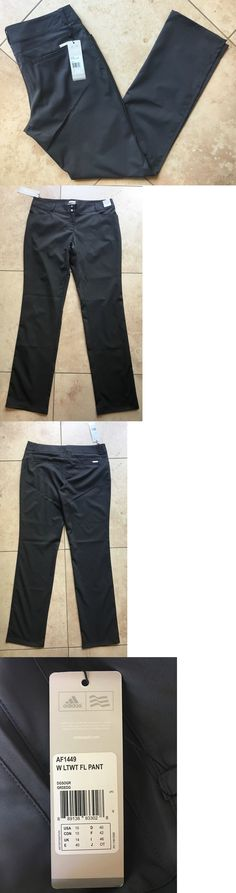 Pants 181148: New Adidas Golf Women S Lightweight Anna Nordqvist Dark Gray Pants 10 Nwt -> BUY IT NOW ONLY: $34.99 on eBay!