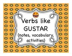 Spanish verbs like gustar lessons - great set of activities, saved me so much time!
