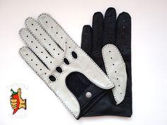 Men's deerskin leather  driving gloves size 9 - SPEED RACER - BLACK & WHITE #ThePepperGloves #DrivingGloves Leather Driving Gloves, Speed Racer, Deerskin, Men's Collection, Leather Men, Black And White, Best Deals, Ebay, Color