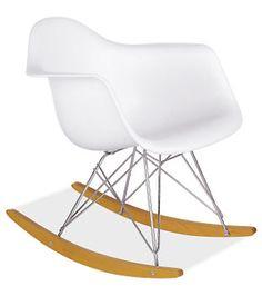 Eames® Molded Plastic Armchair Rocker With Maple Base   Rockers U0026 Gliders    Kids   Room U0026 Board