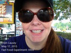 ▶ My Fast Food Experiment: Intro - #fastfood #junkfood #health #obesity #diabetes #SuperSizeMe http://www.TrishCausey.com #YouTube #video #writer #singer #artist #activist #feminist