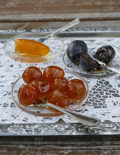 Sweet products on a serving tray at Nikis Sweets, Agros, Cyprus