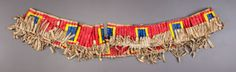 American Indian Art:Beadwork and Quillwork, A SIOUX QUILLED HIDE HORSE COLLARc. 1890 P... Image #2