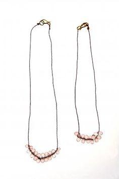rose quart necklace