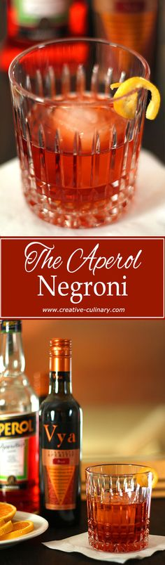 Although the Negroni is world famous I so prefer using Aperol instead of Campari. A bit less herbaceous makes it perfect! via @creativculinary