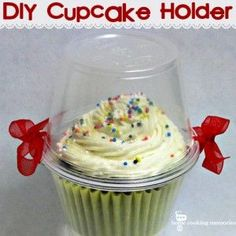 Easy DIY Cupcake Holder - Home Cooking Memories - but how do you get the cupcake out without getting frosting all over your hands - perhaps that's part of the fun!