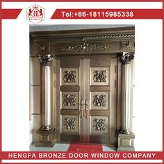 pure bronze doors in my factory by customer customized .various sizes and colors Window Company, Wood Doors, Windows And Doors, Solid Wood, Buffet, Bronze, Pure Products, Storage, Colors