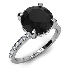 BLACK DIAMOND ENGAGEMENT RINGS | Home Lascel - 4.00ct Black Diamond Engagement Ring >SAVE $2,400