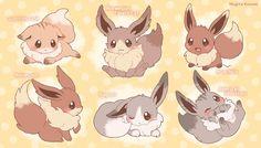 Cute Pokemon Pictures, Pokemon Images, Cute Animal Drawings Kawaii, Cute Drawings, Pokemon Chart, Eevee Cute, Pokemon Eevee Evolutions, Undertale Cute, Anime Poses Reference