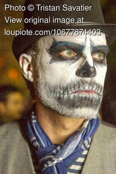 Skull Makeup for Man with Beard