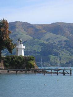 Akaroa lighthouse,New Zealand