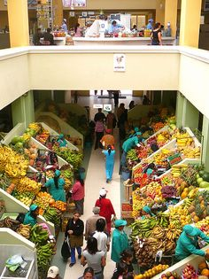 Huge Market in Ambato, Ecuador Ecuador, Equador Quito, Supermarket Design, Fruit Shop, Store Design, Design Shop, World Market, Shop Interiors, South America