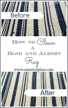 How To Clean A Dash And Albert Rug
