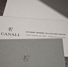 Canali Fashion Show invitation
