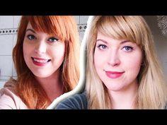Haare blondieren | Von Rot zu Blond ohne Gelbstich Orangestich - YouTube